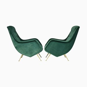 Mid-Century Italian Armchairs by Aldo Morbelli, 1950s, Set of 2