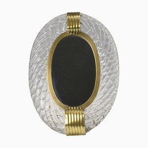 Murano Vanity Mirror by Carlo Scarpa for Venini, 1950s