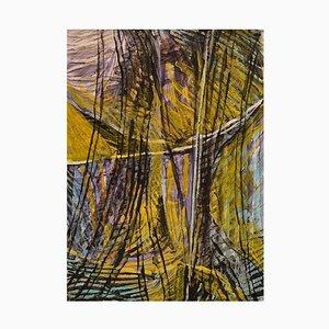Edera Lysdal, guazzo su cartone, Pittura modernista astratta, fine XX secolo