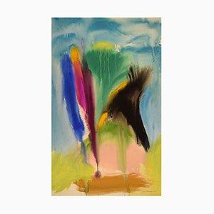 Edera Lysdal, Guazzo su cartone, Pittura modernista astratta, 1992
