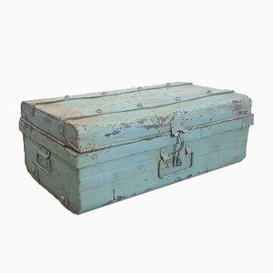 Vintage Metal Blue Storage Box, 1950s
