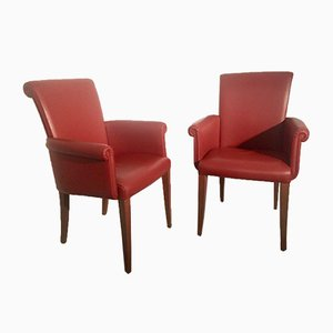 Vittoria Armchairs from Poltrona Frau, Set of 2