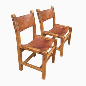 Dining Chairs by Pierre Chapo, Set of 2