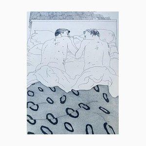 Two Boys Aged 23 or 24 Poster von David Hockney