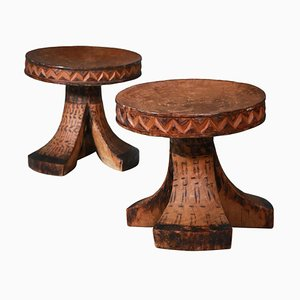 African Stools, 1950s, Set of 2