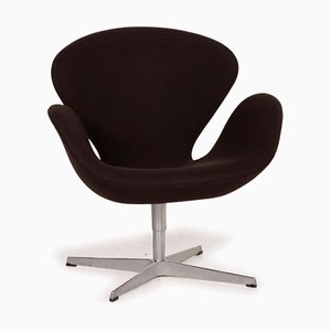 Brown Swan Armchair by Fritz Hansen
