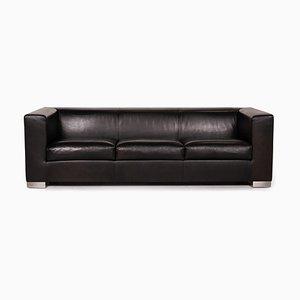 Camin Sofa aus Schwarzem Leder von Wittmann