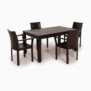 Korpus Nemus Dark Brown Dining Room Set, Set of 3