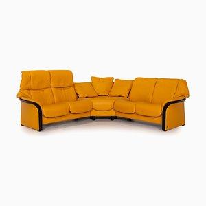 Eldorado Yellow Leather Corner Sofa from Stressless
