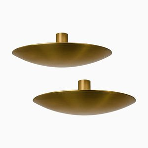 Large Sela 50 Brass Ceiling Light by Florian Schulz, 1970s