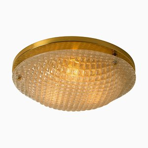 Large Textured Murano Flush Mount from Hillebrand