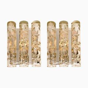 Röhren Wandlampen von Doria, 1970er, 2er Set