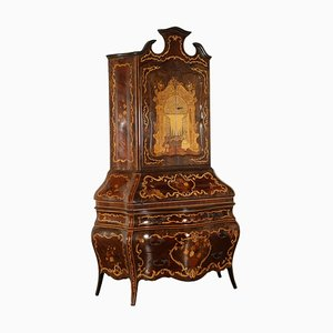 Inlaid Style Trumeau Cabinet