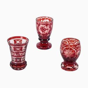 Bicchieri Biedermeier, set di 3