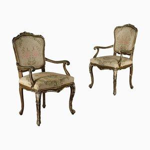 Barocchetto Style Armchairs, Set of 2