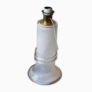 Große Weiße Glas Tischlampe von Atelje Lyktan, 1980er