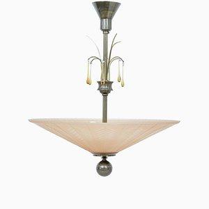 Scandinavian Art Deco Ceiling Light from Orrefors