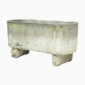 Sarcofago anglo romano in pietra calcarea