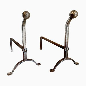 Antique George III Style Firedogs, Set of 2