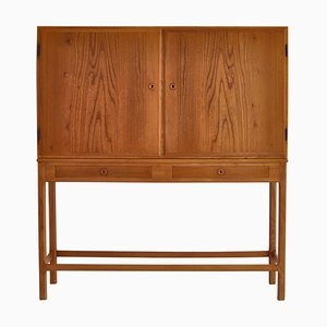 Danish FDB Cabinet in Elm and Pinewood by Børge Mogensen, 1940s
