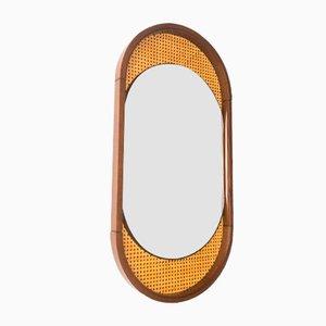 Holz und Stroh Spiegel