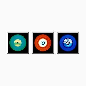 Vinyl Collection - Trio in Grün, Rot, Blau - Pop Art Colour Photography, 2014-2017