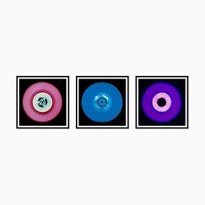 Trio de Vinyls - Trio Rose, Bleu et Violet - Photographie Pop Art Color, 2014-2017