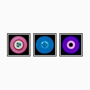 Vinyl Collection - Rosa, Blau, Lila Trio - Pop Art Farbfotografie, 2014-2017