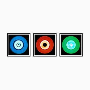 Trio de Vinyles Trio Bleu, Rouge et Vert - Photographie Pop Art Color, 2014-2017
