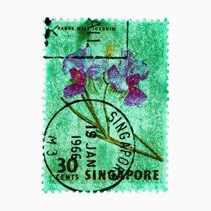 Singapur Briefmarkensammlung, 30c Singapur Orchid Green - Floral Color Photo, 2018