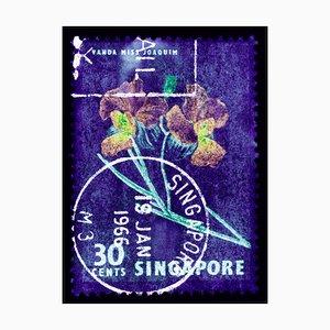 Collection de Tampons Singapore, 30c Singapore Orchid Purple - Floral Colour Photo, 2018