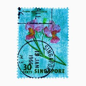 Singapore Briefmarkenkollektion, 30c Singapur Orchid Blue - Floral Color Photo, 2018