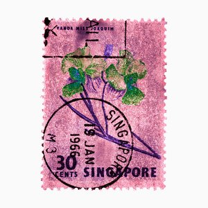 Singapur Briefmarkensammlung, 30c Singapur Orchid Pink - Floral Color Photo, 2018