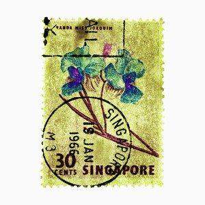 Collection de Tampons Singapour, 30c Singapore Orchid Yellow - Floral Colour Photo, 2018