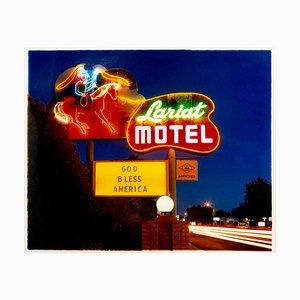 Lariat Motel II, Fallon, Nevada - Neon, Americana, Farbfotografie, 2003