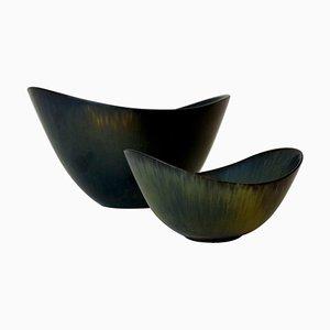 Mid-Century Keramik Schalen von Rörstrand Axk und Aro Gunnar Nylund, Schweden, 2er Set