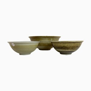 Scandinavian Ceramic Bowls by Carl-harry Stålhane, Sweden, Set of 3