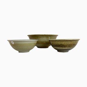 Skandinavische Keramik Schalen von Carl-harry Stålhane, Schweden, 3er Set