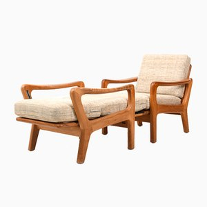 Lounge Chairs by Jens-Juul Christensen for JK Denmark, 1970s, Set of 2
