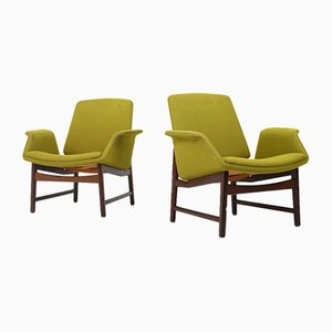 Danish Mod. 451 Lounge Chairs by Illum Wikkelsø for Aarhus Møbelfabrik, 1960s, Set of 2