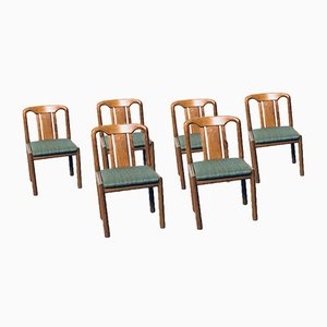 German Oak Dining Chairs, 1970s, Set of 6