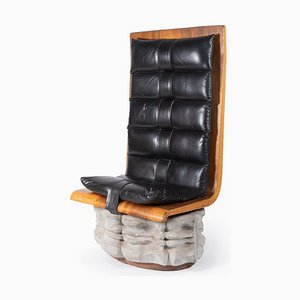 Leather Chair, 1970s