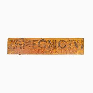 Wooden Zámečnictví Sign