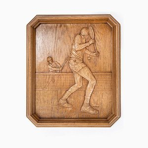 Wooden Tennis Wall Carving