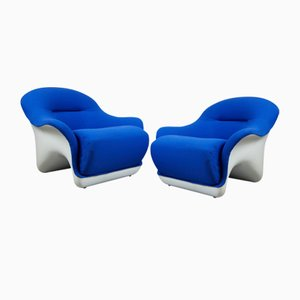 Lounge Chairs by Luigi Colani, 1970s, Set of 2