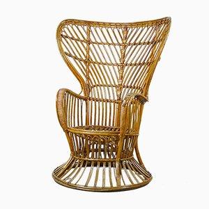 Chaise en Osier par Gio Ponti et Lio Carminati, 1960s