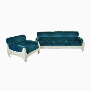 Fiberglass Sofa & Armchair from Tecnosalotto, 1960s, Set of 2