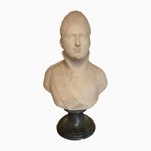 Marble Bust of Tzar Alexander I of Russia