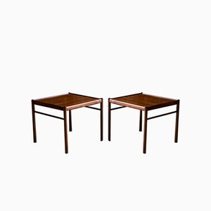 Colonial Rosewood Side Tables by Ole Wanscher for Poul Jeppesens Møbelfabrik, 1950s, Set of 2
