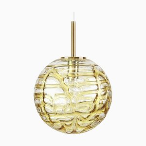 German Murano Glass Ball Pendant Lamp from Doria Leuchten, 1970s